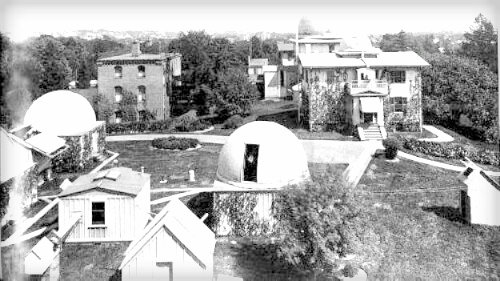 Grounds of Harvard College Observatory circa 1899.