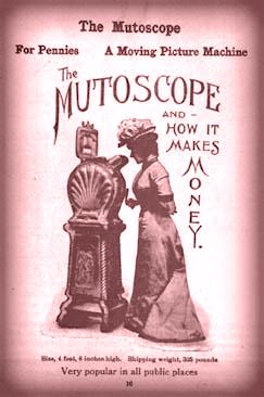 Mutoscope Ad, 1899. Image: Wikipedia.