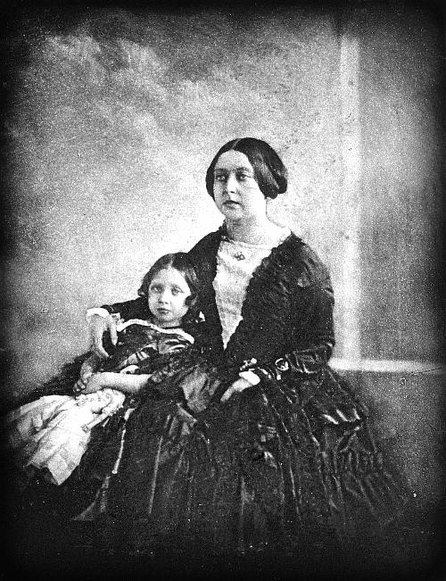 Queen Victoria, and Princess Victoria, 1844-5. Wikimedia Commons.