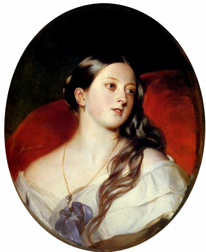 Queen Victoria by Franz Xaver Winterhalter, 1843. Image: WikiMedia Commons.