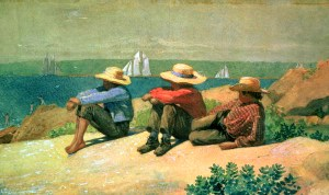 Winslow Homer: On-the-Beach, 1875. Image: Wiki Media Commons.