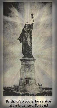 Bartholdi's Original Peasant Statue Concept.