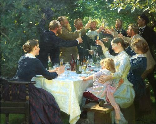 Hipp Hipp Hurra, Skagen, Peder Severin Kroyer, 1888. Image: Wikipedia.