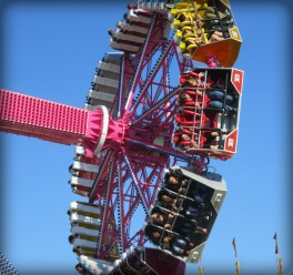 New Ferris Wheel, Ventura Fair, California, 2016. Image. B. Rose.