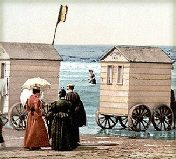 Victorian Era Seaside Bathing Machines.