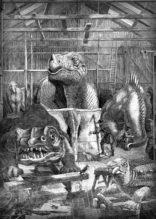 Crystal Palace Dinosaurs; Hawkins Studio, Sydenham. Image: Wikipedia.