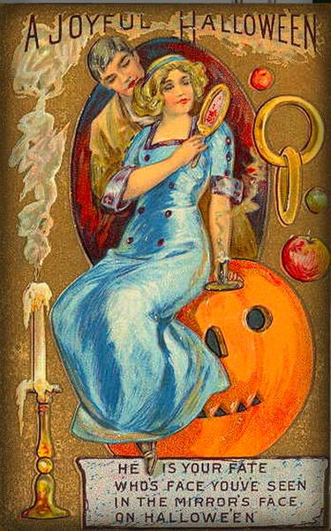 Victorian Era Halloween Game Card.
