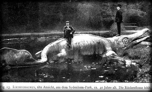 Crystal Palace Dinosaur, Ichthyosaurus. Image: Wikipedia.