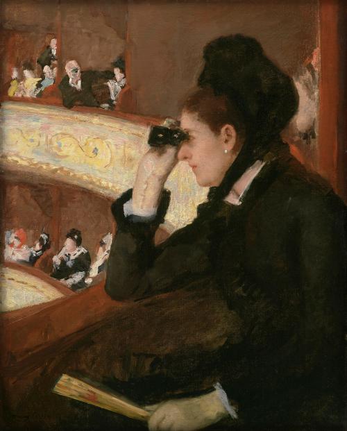 Mary Cassatt: In The Loge, 1878. Image: Wikipedia.