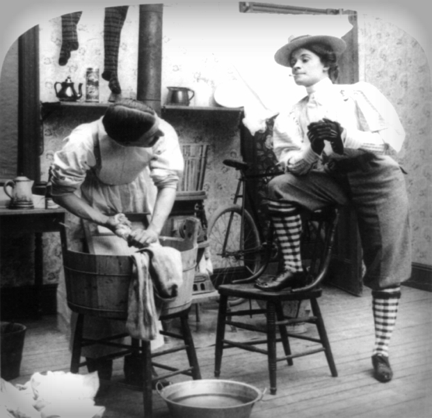 The New Woman-Wash Day, 1901. Photo: Library of Congress.
