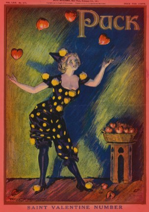 Valentine Cover of Puck Magazine. Image: Library of Congress.