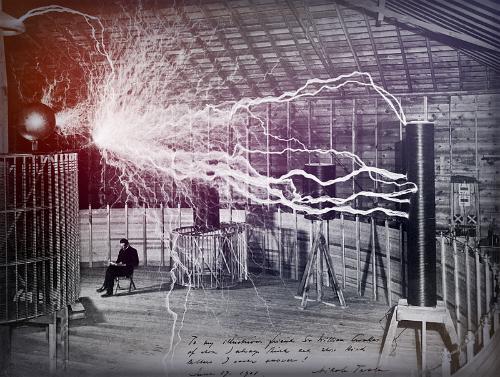 Nikola Tesla Papers, Colorado Springs Lab, 1899. Image: Wellcome Images.