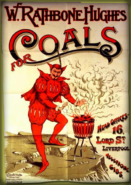 Coal Advertisement, Victorian Era.