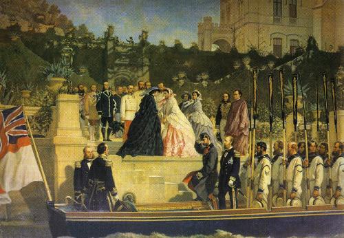 Charlotte of Belgium, Castello di Miramare, 1861.