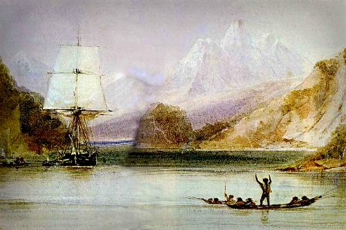 HMS Beagle, Illustrated origins of the Species. Image: Wikipedia.