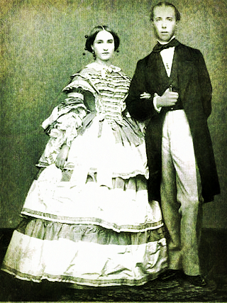 Maximilian and Charlotte, 1857, Image: Wikipedia.