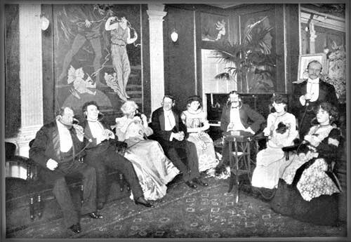 Victorian Era Electrophone Listening Station, 1903. Image: Wikipedia.
