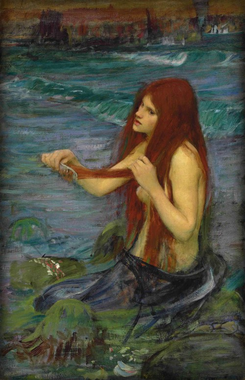 Victorian Era Mermaids: John William Waterhouse, A Mermaid, 1900. Image: Wikipedia.