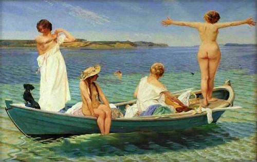 Harald Slott-Moller: Nude Girls, Date 1910. Image: Wikipedia.