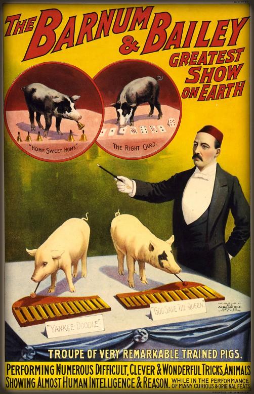 Barnum & Bailey Poster, 1898. Image: Wikipedia.