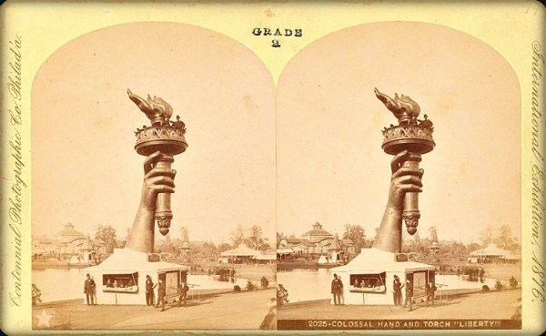Centennial Exposition 1876, Statue of Liberty Arm. Image: Philadelphia Free Library.