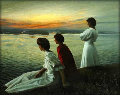 Harald Slott-Møller: Midsummer's Eve, Date 1904. Image: Wikipedia.