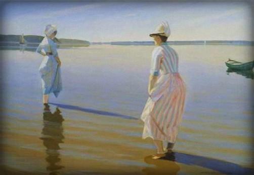 Harald Slott-Moller: Summer Day, Date 1888. Image: Wikipedia.