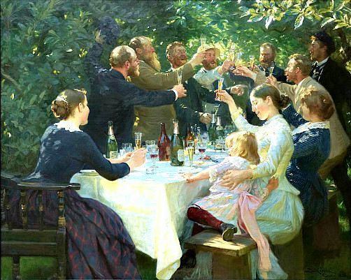 Peder Severin Kroyer: Hipp, Hipp Hurra!, 1888. Image: Wikipedia.