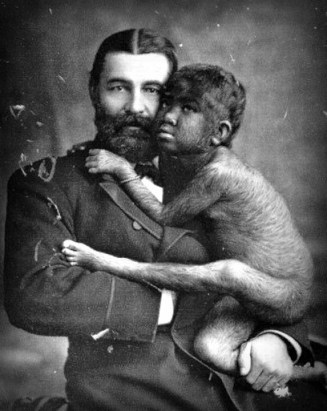 The Great Farini and Krao, 1883. Image: W & D Downey; Wikipedia.