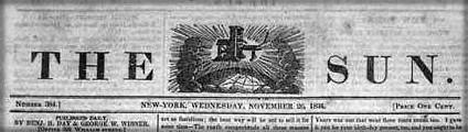 Great Moon Hoax 1835, The Sun. Image: Wikipedia.