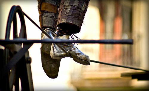 Tightrope Walking. Image: Wiros from Barcelona, Spain; Wikipedia.