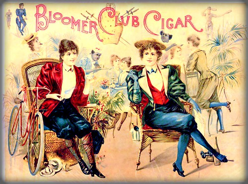 Bloomer Club Cigars, 1897. Image: Wikipedia.