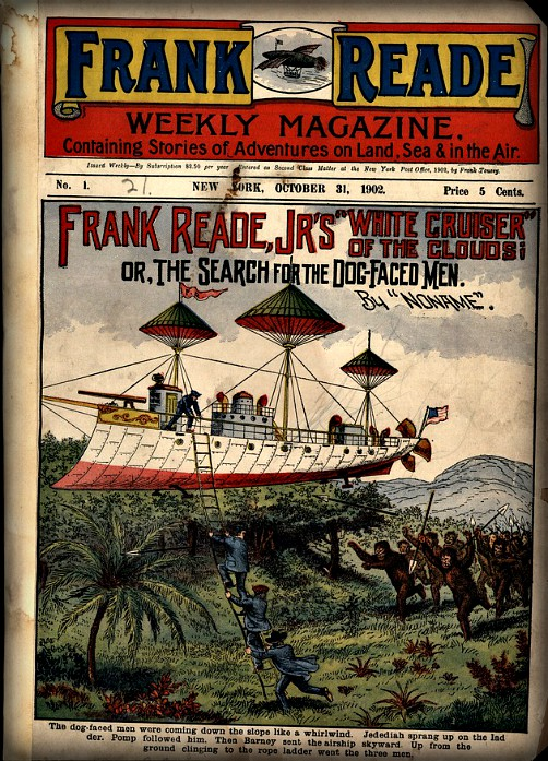 Frank Reade Library Cover. Image: Digital Collections.