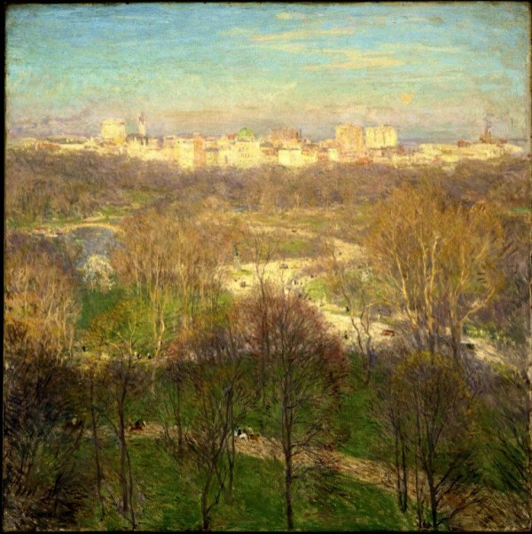 Central Park--Early Spring Afternoon; Willard Leroy Metcalf. Image: Wikipedia.