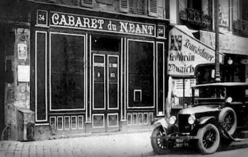 Cabaret Of Nothingness, Montmartre. Image: Public Domain.