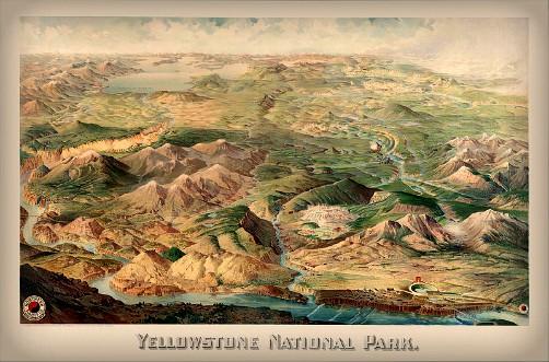 Yellowstone National Park, Wellge, 1904. Image: Wikipedia.