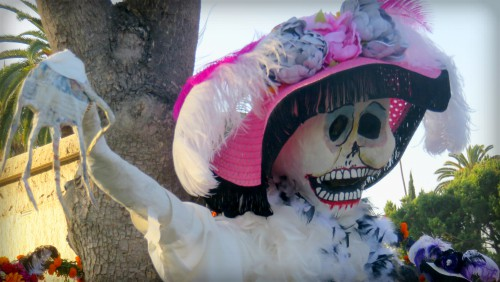 Catrina: Los Angeles Hollywood Cemetery, Day of the Dead. Image: B. Rose Media.