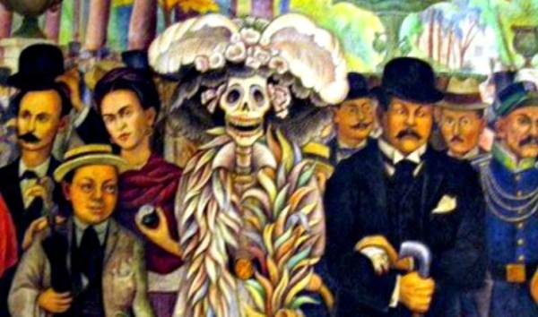 Catrina Skull: The Kid by Diego Rivera, 1947. Image: Wikipedia; Momo.