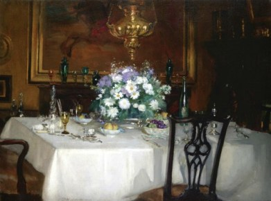 The Dinner Table, Ardilea 1911 by Patrick William Adams. Image: Public Domain.
