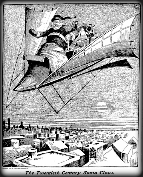 Victorian Santa Gets A New Ride, 1900. Image: Carbondale Free Press.