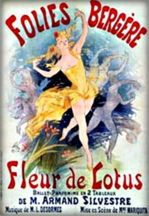 Follies Bergere Fleur de Lotus by Jules Chéret, 1893. Image: Wikipedia.