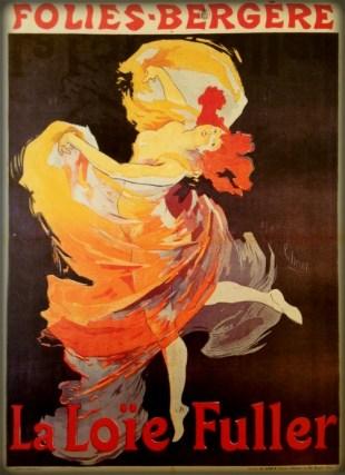 Folies-Bergère: La Loie Fuller, Skirt Dance. Image: Dance Heritage Museum.org.