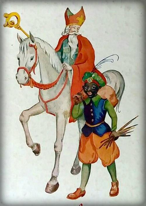 Sinterklaas And Zwarte Piet. Image: Public Domain.