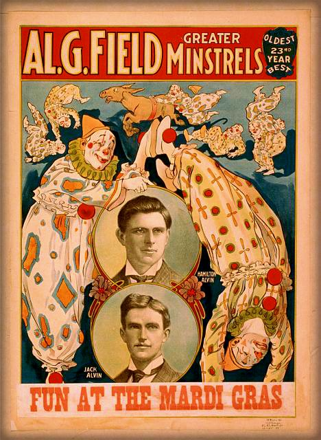 Victorian Era Mardi Gras Poster, 1908. Image: Library of Congress.