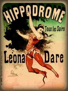 Leona Dare, Hippodrome, 1883. Image: Wikipedia.
