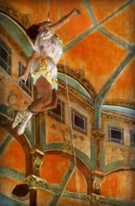Miss La La-Cirque Fernando, 1879 by Edgar Degas. Image: Wikimedia.