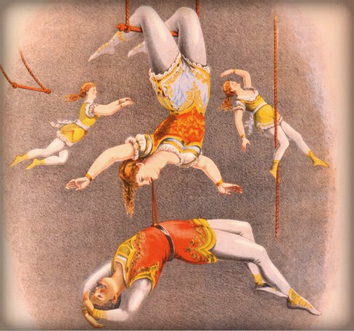 Nineteenth-Century Aerialist Poster. Image: New York Public Library.