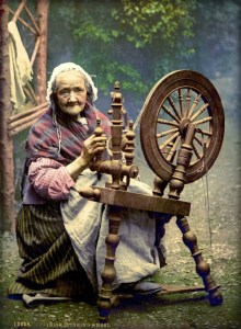Victorian Era Photochrom Postcards: Spinstress County Galway, Ireland. Image: Library of Congress.