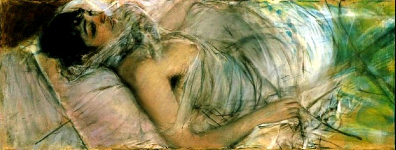 Giovanni Boldini, Countess de Ratsy Lying. Image: Wikipedia.