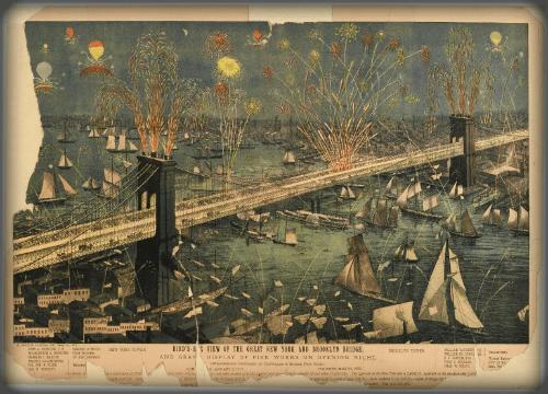 First Female Field Engineer, Emily Warren Roebling: Brooklyn Bridge Grand Opening. Image: Wikipedia.